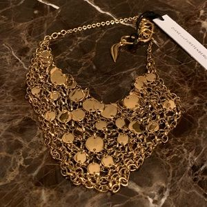 Delightful!! DVF Circle Mesh Chain Bib Necklace!!